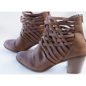 Arizona Jean Co. Brown Strappy Booties 10M